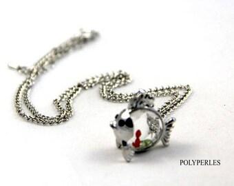 Fish sea glass jewelry necklace
