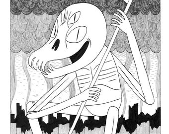 Reaper - Original A3 Drawing