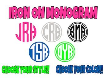 Monogram iron on etsy iron on custom monogram circle monogram iron on transfer custom monogram diy solutioingenieria Image collections