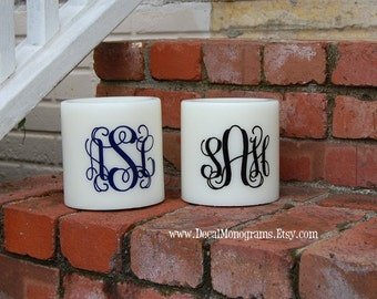 Monogram Vinyl Decal, Special Set of two, Car monograms