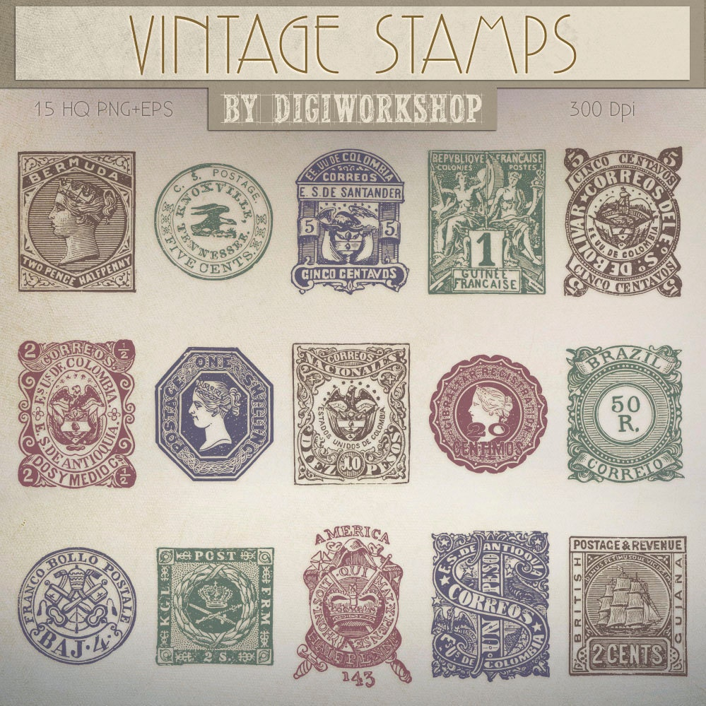 Postage stamp clip art clipart vintage stamps zoom monicamarmolfo Gallery