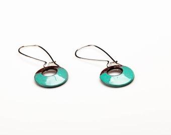 Ericka Earrings - Enamel on copper