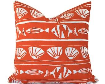Outdoor Pillows Outdoor Pillow Covers Decorative Pillows ANY SIZE Pillow Cover Orange Pillow Premier Prints Outdoor Caicos Orange