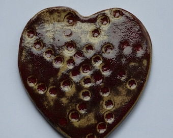 Large Pulsing Clay Heart