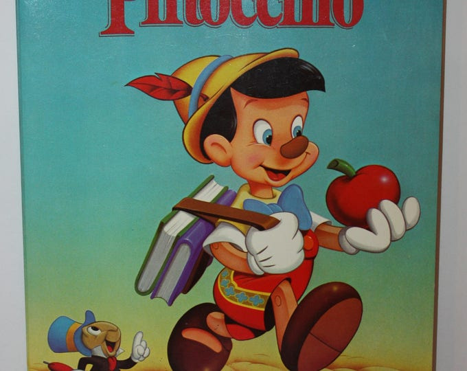 Golden Walt Disney's Pinocchio Color and Activity Book 1984