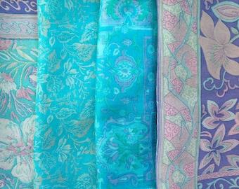 Silk Fabric, Fat Quarters, Sari Silk, FQ 220