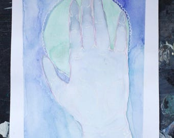 Little hand watercolor Original