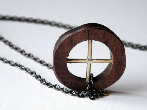 Wooden Wheel Necklace