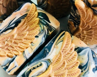 Soap Gold Wings Artisan Soap Cold Process Soap Bar Handcrafted Soap