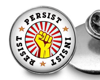Resist Pin/ Resist Button/ Political Sticker/Activist Pin/Women's March /  Resistance Pin/ Resist Lapel Pin/ Resistance Pin/Political Pin