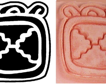 Mayan Glyph Codex Stamp #2 Design Tool for PMC Clay - Ceramic Clay - Polymer Clay - Textile Stamp - Scrap Booking Stamp - Mayan Glyph Codex
