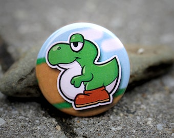 "Baby Yoshi 1.25"" Pinback Button (4 colors avaliable)"
