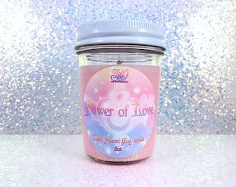Power of Love  Scented Candle | Sailor Moon | Soy Wax| Mercury | Venus | Mars | Jupiter | Saturn | Neptune | Tuxedo Mask | Artemis | Luna |
