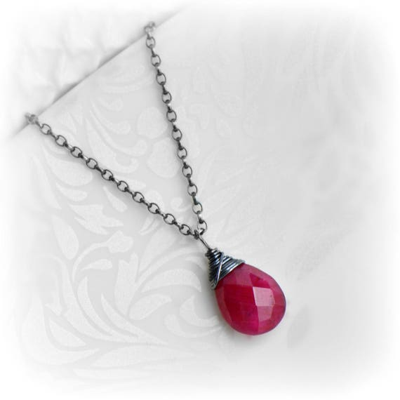 Ruby necklace ruby jewelry july birthstone red ruby like this item mozeypictures Gallery