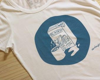 Almond Milk T Shirt by Earthenfolk - Vegan Ethical Fair-trade