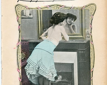 Two(2) Le Charme Vintage French Risque Magazines from 1904  113 Years Old  Very Collectible Very Rare ! Hard-To-Find ! Take a Look !  mature