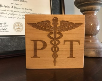 PT Caduceus, Physical Therapist, Physical Therapy, Health Care Gift, Medical Gifts, Therapist, Therapist Gift, Therapist Graduation, PT Grad