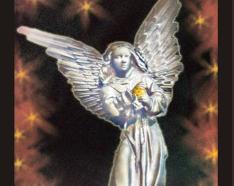 Love and Light. Guardian Angel.  Mounted digital print in full colour.