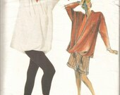 1980s Issey Miyake Top Pants Pantskirt Avant Garde Mostly Uncut Vogue 1729 Size 8 Bust 31.5 Women's Vintage Sewing Pattern