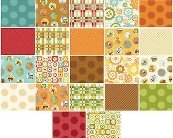 Mischief Fat Quarter Bundle - 22 Different Prints - Little Boy Fabric Line Designed by Nancy Halvorsen for Benartex (W1019)