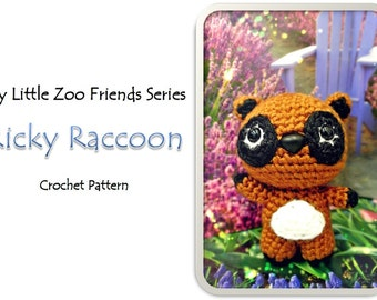 MyLittleZooFriends Series - Ricky Raccoon (PDF Pattern)