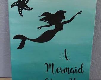 A mermaid sleeps here