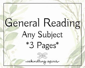 General Reading - Any Subject - by a Starseed Twin Flame Couple - Shamanic Divination - Psychic - Intuitive