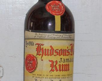 Vintage Hudson's Bay Company Rum Bottle