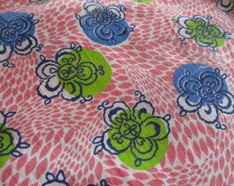 Vintage Floral Feedsack Fabric
