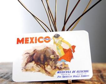 Vintage Mexicana De Aviacion, Mexico, Travel Decal Gummed Sticker