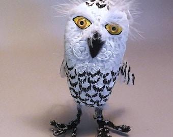 Snowy Owl - Art Shoe Sculpture