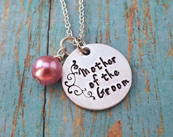 Mother of the Groom - Mother of the Groom Necklace - Wedding Jewelry - Mother of the Groom Gift - Wedding Party - Gift for Mother - Wedding