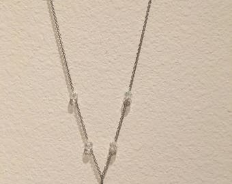 Blue Cat Eye Wire-Wrapped Necklace