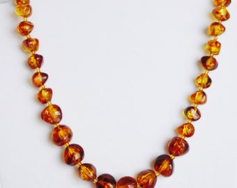 Amber Look-Alike Necklace/ Chain