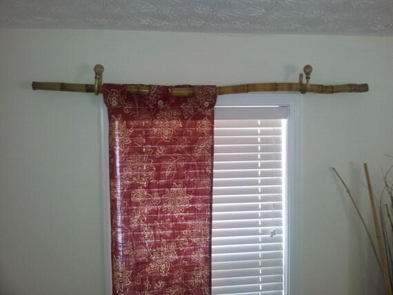 rideau tringle bambou rustique feu teint tringle rideau. Black Bedroom Furniture Sets. Home Design Ideas