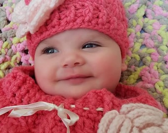 Made to Order Baby Cocoon and Hat Set