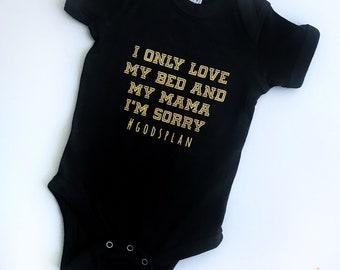 Hip Hop Onesie Colour, Baby Hip Hop Bodysuit, Drake Shirt, God's Plan, Rap T-Shirt, Custom Baby Onesie, Custom Toddler, Kids Hip Hop