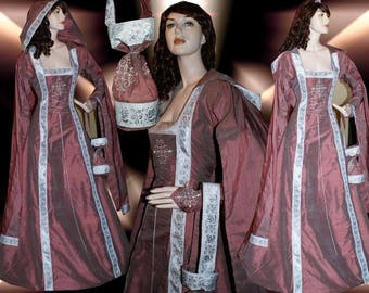Royal medieval garb from middle ages dress 100% silk