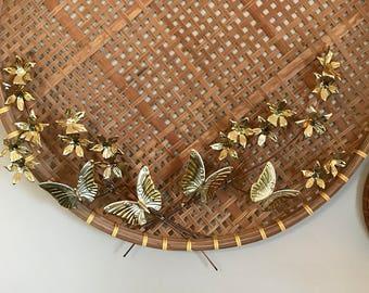brass butterfly wall sculpture set set of 2