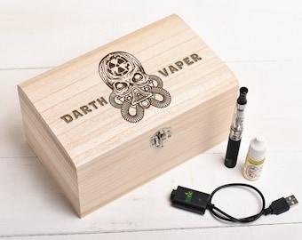 Vape Box, Vape Stand, Vaping Gift, Birthday Gift, Skull Design, E-Cigarette (BOX ONLY)