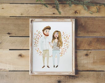 Personalized Custom Couple Portrait From Photo in Watercolor | Portrait for Couples, Custom Wedding Portrait, Custom Family Portrait