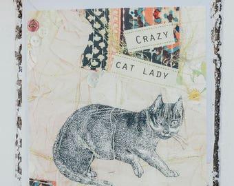 Crazy Cat Lady card
