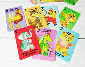 Vintage Animal Rummy Card Game
