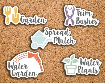 29 Garden, Lawn Care Sampler Icon Planner Stickers for 2017 Inkwell Press IWP-DC56