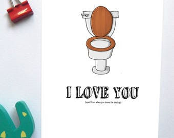 Toilet Humour Valentine's Day/Anniversary Card