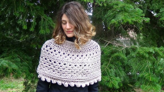 Crochet Pattern Granny Bohemian Wrap Pdf Pattern Easy