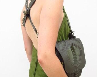 NEW** Leather festival belt ** Leather holster, utility belt, steam punk bag, pixie belt, cowgirl southwestern bag, travel bag,