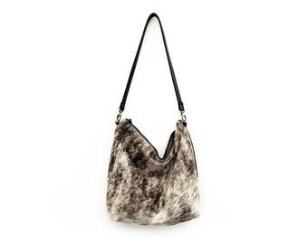Hair on Hide Hobo Purse - Brown Brindle | Bag | Carryall