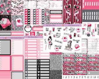 PLANNER GIRL Planner Stickers | Sized for vertical Erin Condren Life Planner | ECLP-V6a-g