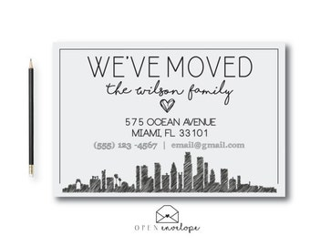 Moving Announcement | Moved To The City | New Home Announcement | New Address | We've Moved